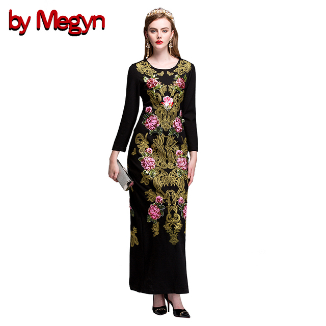 f555db252b51 by megyn woman long dress elegant evening black floral embroidered bodycon dress  maxi dress plus size vestidos de festa longo