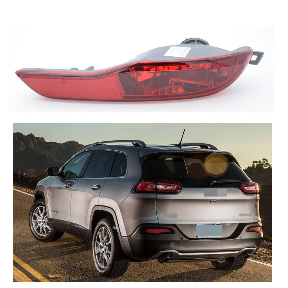 1Pcs Car-Styling Car Accessories Left Side Rear Bumper Fog Light Lamp Housing For Jeep Cherokee 2014 car styling left