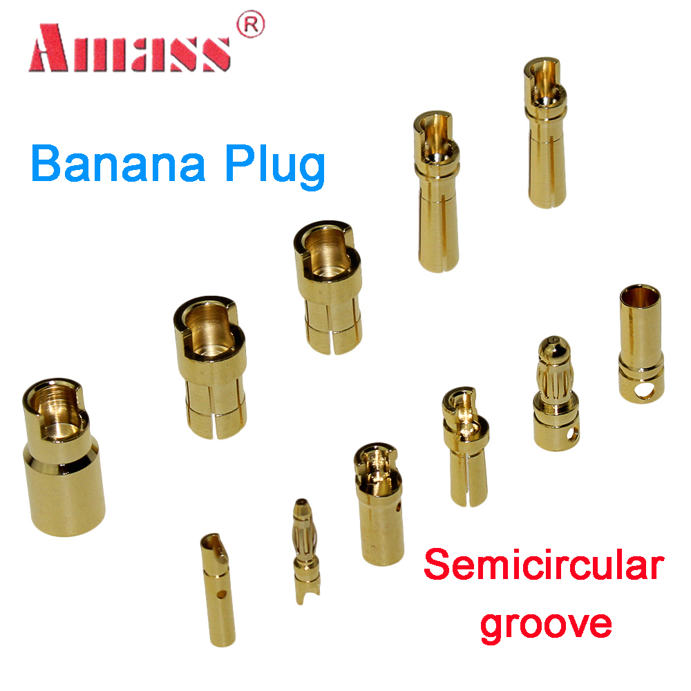 20pcs/lot 40pcs/lot AMASS2.0mm <font><b>3.5mm</b></font> 4.0mm Gold Plated <font><b>Bullet</b></font> Connector For RC Battery ESC And Motor Helicopter Boat Quadcopter image