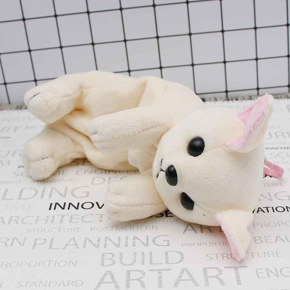 Cartoon pluszowy piórnik Kawaii biurowe pluszowy pies Puppy szkolne materiały biurowe ołówek torba dla dzieci piórnik prezent na Boże Narodzenie