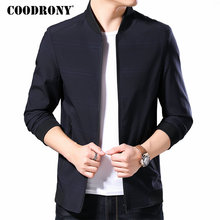 COODRONY Brand Bomber Jacket Men Casual Coat Men Clothes 2019 Autumn Winter Mnes Jackets And Coats Stand Collar Outerwear 98011 varsanol brand men s bomber jackets windbreaker coats embroidery logo baseball collar male full sleeve winter leather outerwear