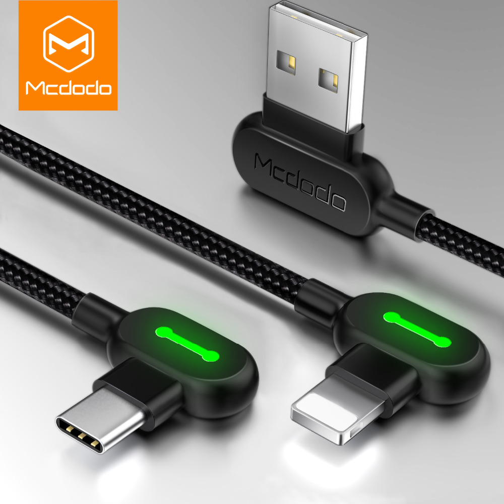 MCDODO Cable For iPhone XS MAX XR 8 7 6 5 6s plus USB Cable Fast Charging Cable Mobile Phone Charger Cord Adapter Usb Data Cable