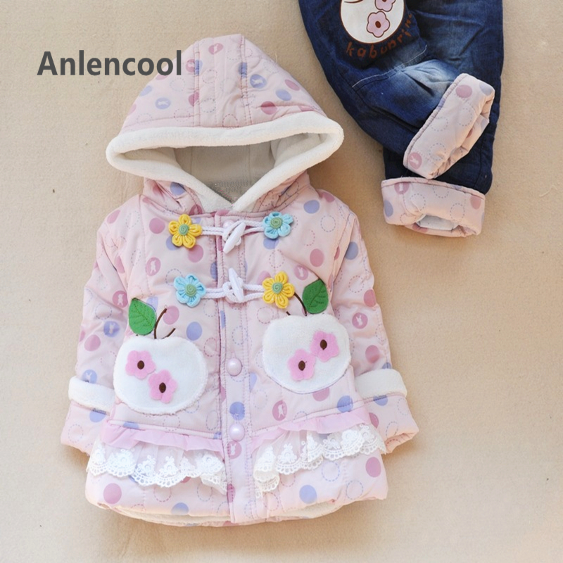 ФОТО Brand newborn baby clothes2016 Apple suit girls clothing newborn baby girl winter clothes winter modelsfree shipping