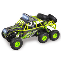 Model RC Car 1:18 Scale Electric Rock Climber Radio Control 2.4GHZ 6WD Bigfoot LED Light Remote Control Car Toys for Boys