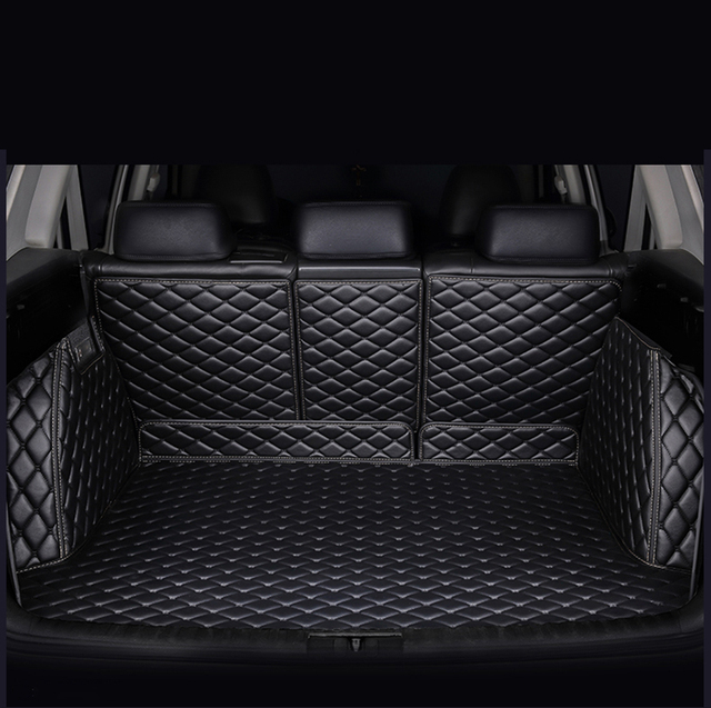 Fully enclosed trunk mat for audi a3 sportback a5 sportback tt mk1 A1 A2 A3 A4 A5 A6 A7 A8 Q3 Q5 Q7 S4 S5 S8 RS Car accessories