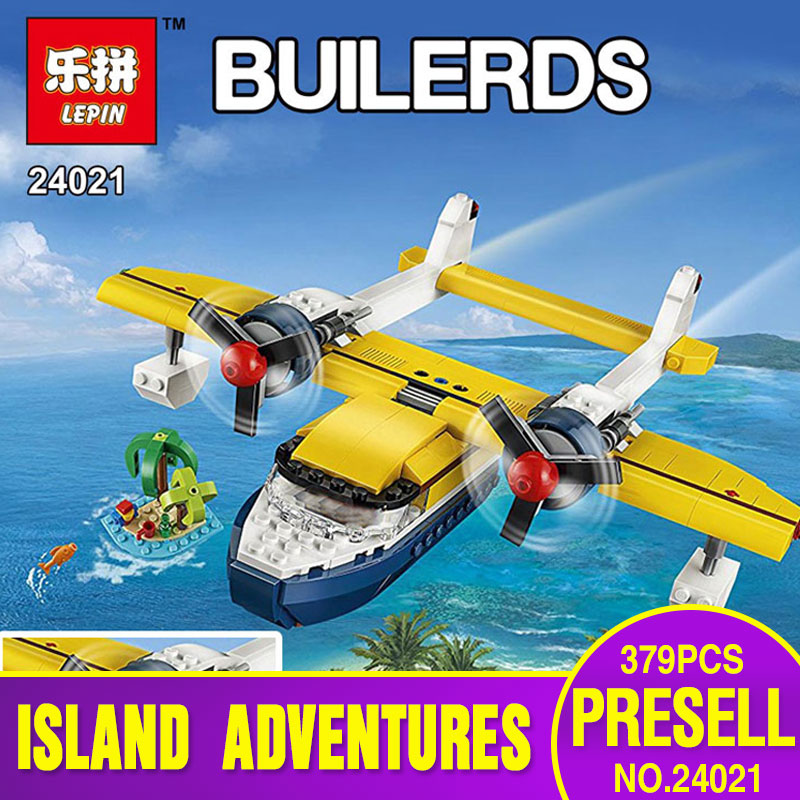 Lepin 24021 379Pcs Changing Series The Pirate Adventure Tour Set Children Educational Building Blocks Bricks Toys Model 31064 new lepin 16042 pirate ship series building blocks the slient mary set children educational bricks toys model gift with 71042