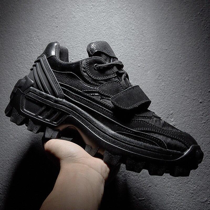 Gancho Fundo De Hip Laço Homens Tenis Grosso Sapatos Kanye Dos Hombre Masculino Sapatilhas Hop Zapatos West branco Dança Preto wIqvx55SP