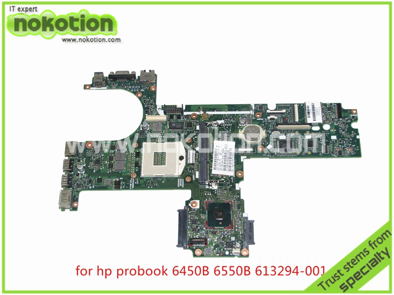 NOKOTION 613294-001 laptop Motherboard for HP probook 6450B 6550B HM57 HD graphics DDR3 mainboard nokotion fiji mb 12238 1 48 4yz34 011 721523 001 laptop motherboard for hp probook 440 450 hd4000 ddr3 mainboard