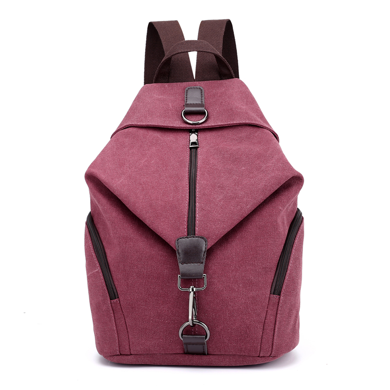 Pretty style pure color canvas women backpack college student school book bag leisure backpack travel bag men original leather fashion travel university college school book bag designer male backpack daypack student laptop bag 9950