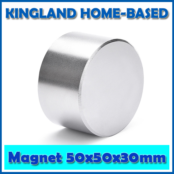 Free Shipping 1pc Dia 50x30 Mm Hot Round Magnet 50*30mm Strong Magnets Rare Earth Neodymium Magnet 50x30mm Wholesale 50*30 wholesale 1pcs 30mm x 30mm craft model strong rare earth ndfeb magnet 30 30 mm neodymium n52 fridge magnets round sheet