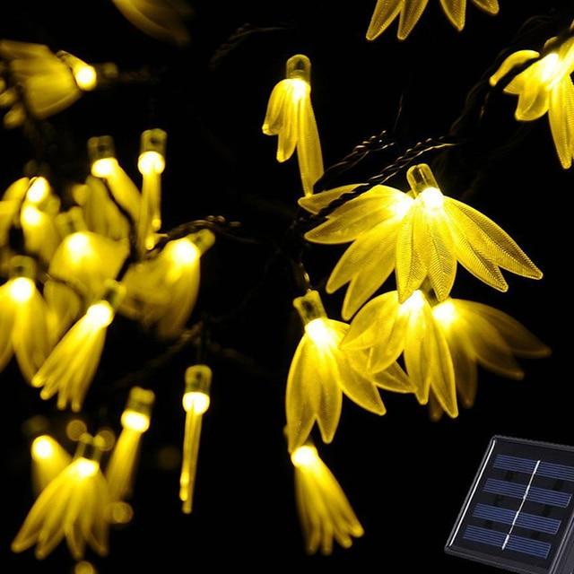 Outdoor solar powered 20ft 6m 30 led starrys string lights outdoor solar powered 20ft 6m 30 led starrys string lights waterproof fourleaf flower christmas lights for aloadofball Choice Image