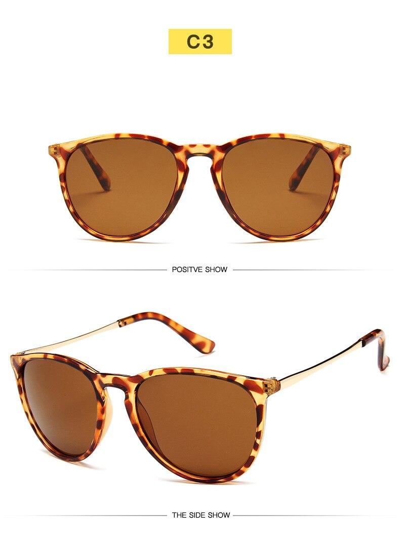 Vintage Retro Mirror Erika Sunglasses Women Brand Designer Cat Eye Sun Glasses Leopard Protection Mirrored 4171 zonnebril dames in Women 39 s Sunglasses from Apparel Accessories