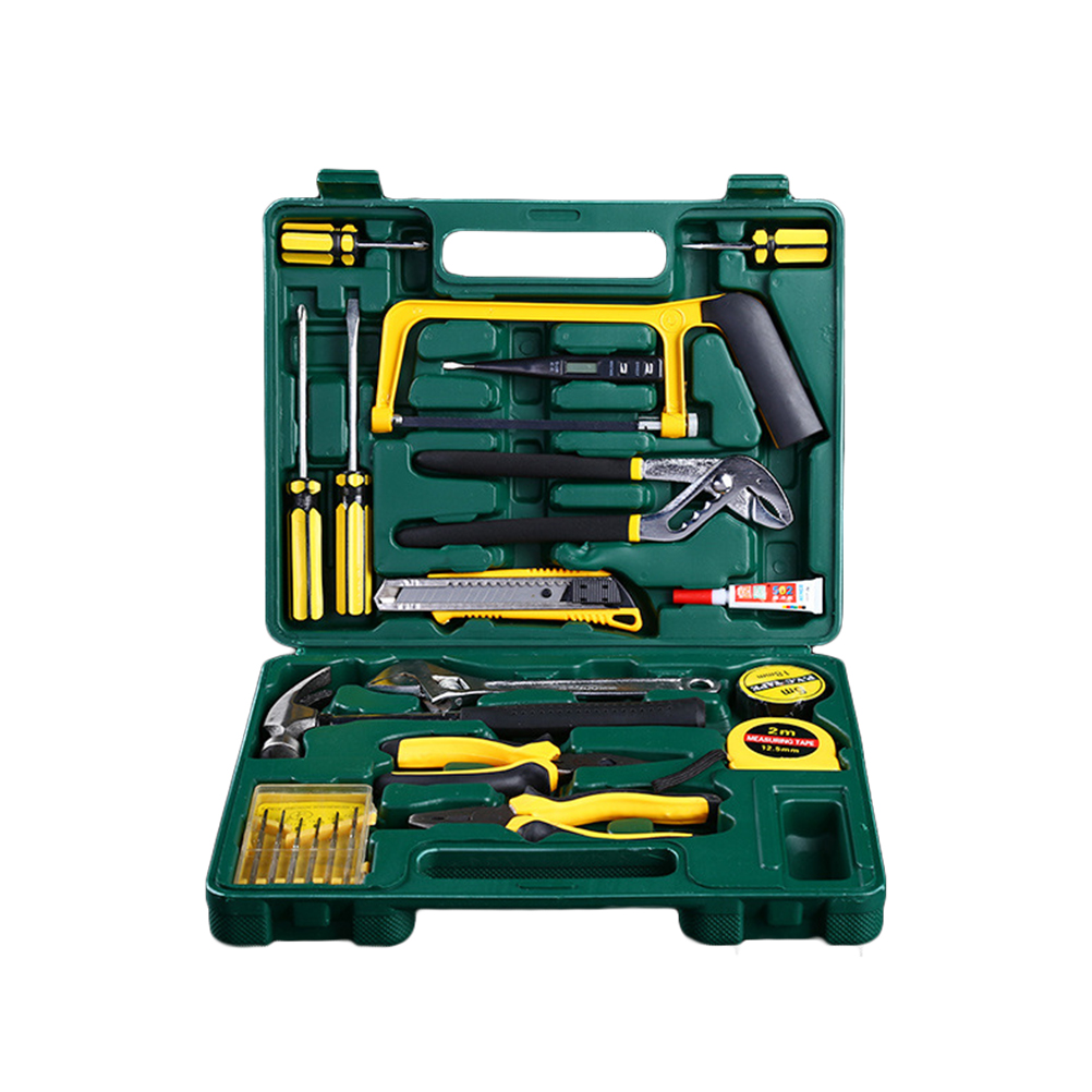 22pcs Auto Home Household Repair Tool Combination Package Mixed Tool Set Hand Tool Kit Alloy Steel Tool Kit combination plier electrician repair mini hand home tool kit