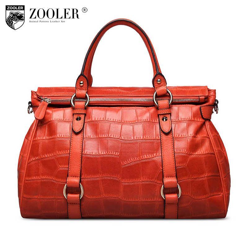 ZOOLER genuine leather Bag Ladies Luxury woman bags bag handbag fashion handbags OL Style quality bag top  bolsa feminina #3622 zooler 2017 new arrival genuine leather handbags woman design top quality crossbody bag luxury brand red ladies bags hs 3211
