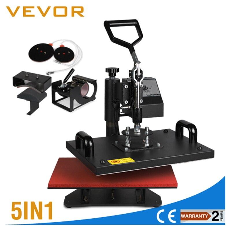 VEVOR Sublimation T-shirt tasse cap Plaque 5in1 T-shirt Presse de La Chaleur Machine