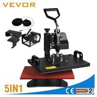 VEVOR Sublimation T shirt mug cap Plate 5in1 T Shirt Heat Press Machine