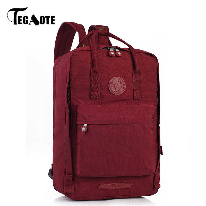 TEGAOTE Male Backpack Bag Mochila Masculina Men's Shoulder School Backpacks for Teenage Nylon Waterproof Bag Sac A Dos 2019