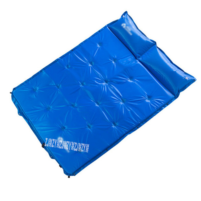 192 * 132 * 3 Cm Double Person Automatic Inflating Camping Mattress Mat Pad Outdoor Hiking Tents Sleeping Mat Nxl1534001 Blue Good Reputation Over The World