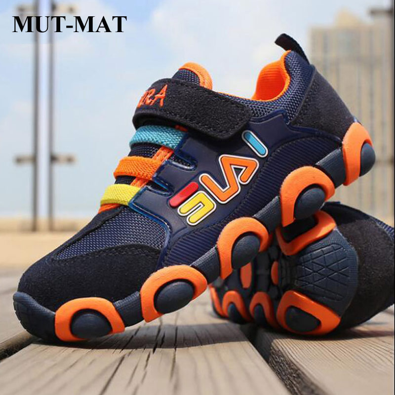 Kids Shoes  Children Genuine Leather Sports Shoes Boys Girls Breathable Mesh Sneakers Fashion Kid Spring Shoes Tank Shoes