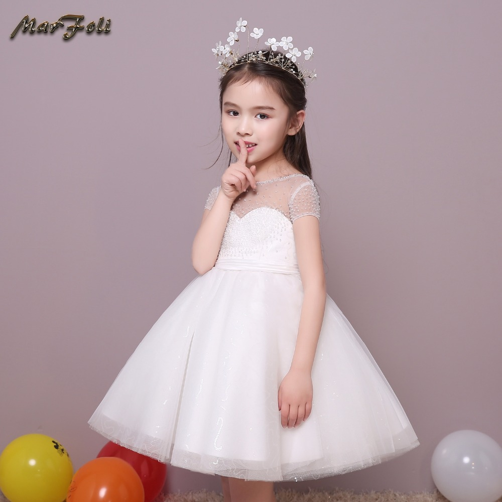 Cinderella Princess Character Dress Child 3t 4t 5 6 7: Marfoli Gorgeous Flower Girl Dress Ivory White Cinderella
