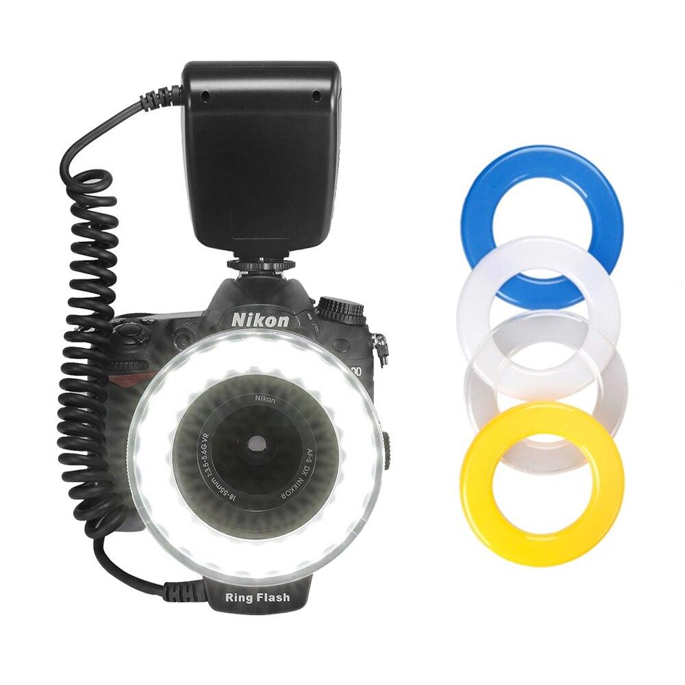 Pixel RF-550 RF550 48 pièces LED Macro anneau lumière Flash pour Canon Nikon Panasonic Olympus DSLR appareils photo DV écran LCD