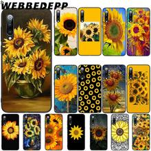 WEBBEDEPP Yellow Sunflower Soft TPU Case Cover for Xiaomi Mi 6 8 A2 Lite 6 9 A1 Mix 2s Max 3 F1 Case webbedepp little mix soft tpu case cover for xiaomi mi 6 8 a2 lite 6 9 a1 mix 2s max 3 f1 case