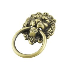 High Quality Antique Style Bronze Lion Head Design Drawer Ring Pull Handle Knob