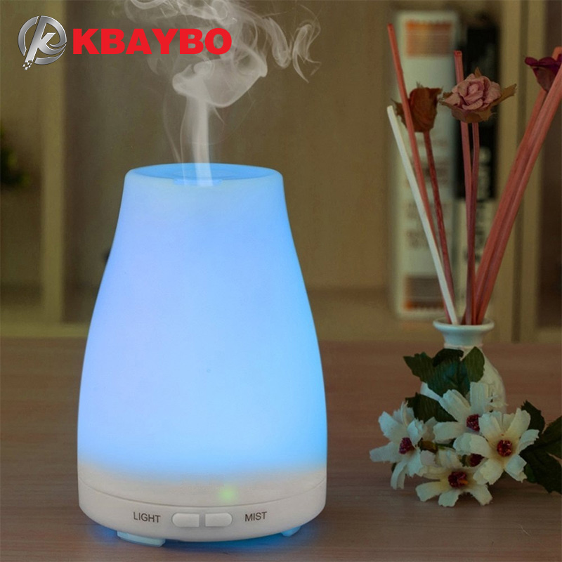 Ultrasonic Humidifier Aromatherapy Oil Diffuser Cool Mist With Color LED Lights essential oil diffuser Waterless Auto Shut-off ceramic 100ml aromatherapy essential oil diffuser portable ultrasonic cool mist aroma humidifier with led lights auto shut off
