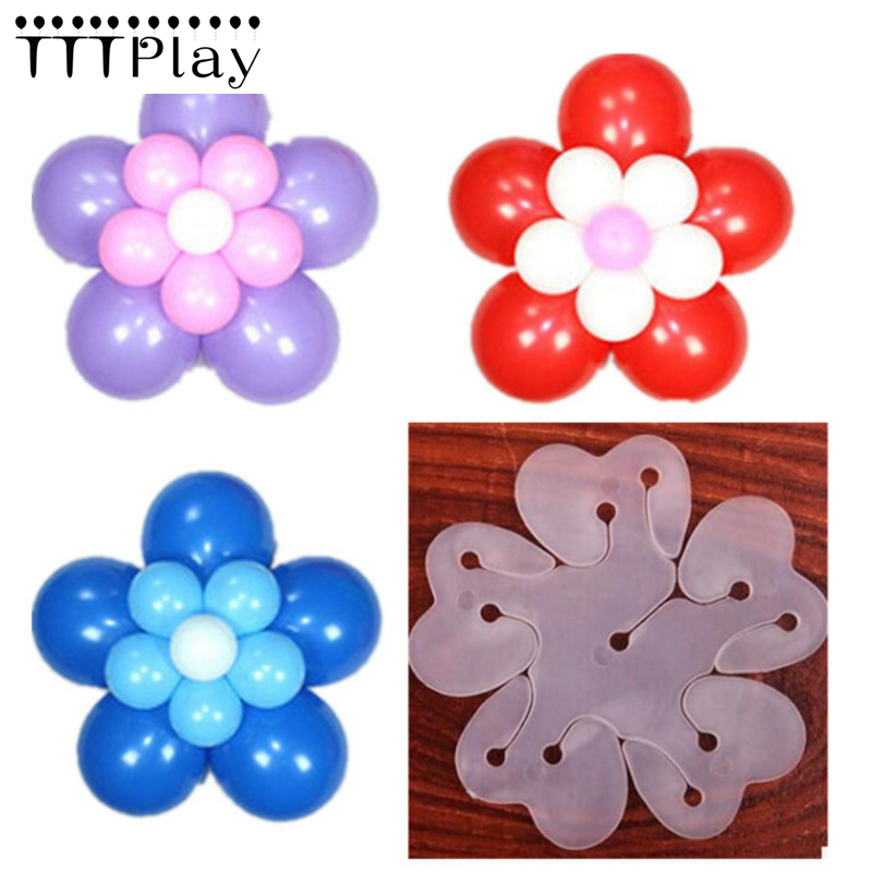 10pcs/lot 8cm Useful Flower Shape Balloon Sealing Clip Ballon Buttons Clips Wedding/Birthday/Christmas Party Decoration Supplies