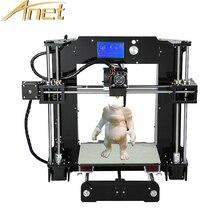 Анет A6 auto level/нормальный A8 3d принтер RepRap Prusa i3 3D комплект принтера DIY Бесплатная 1rolls 0.5 кг нити impressora 3d принтер