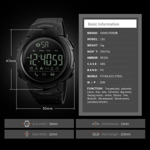 Image 4 - Sport Smart Watch Men SKMEI Brand Pedometer Remote Camera Calorie Bluetooth Smartwatch Reminder Digital Wristwatches Relojes