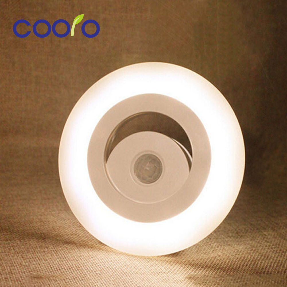 LED Sensor Light AAA Battery PIR Human Body Motion Light Lamp Movable Wall Lamp Home Illumination Light sensor automatic startup led pir body automatic motion sensor wall light sensor night light usb rechargeable induction lamp for closet bedrooms