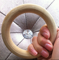 Uma Única Peça 1.5 cm Largura Pulseiras De Madeira Inacabadas V29