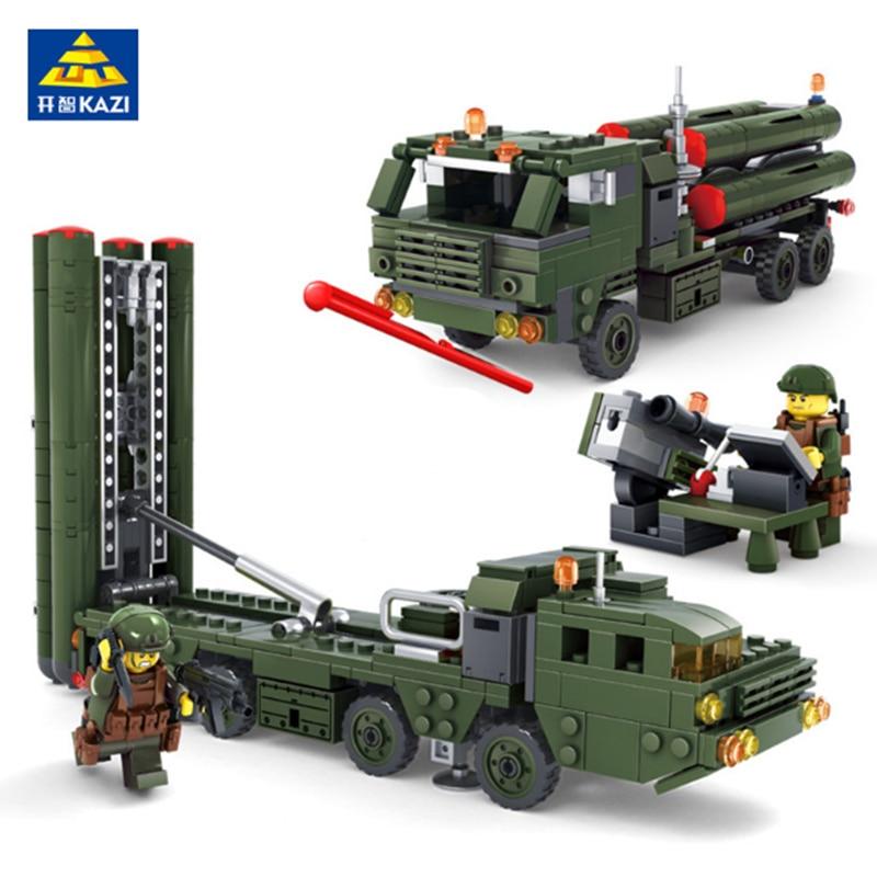 KAZI Military War Building Blocks Field Army Vehicle DIY Construction Bricks Compatible with lego Kids Educational Toys