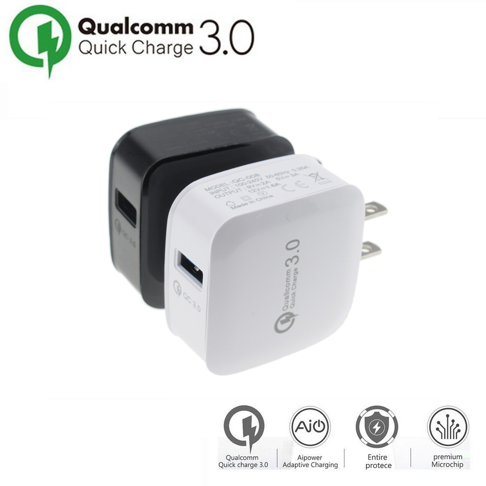 CARPRIE 2017 New Style QC 3.0 Quick Fast Charging Travel Home AC To Phone USB Wall Charger US Plug usb charger Drop Shipping
