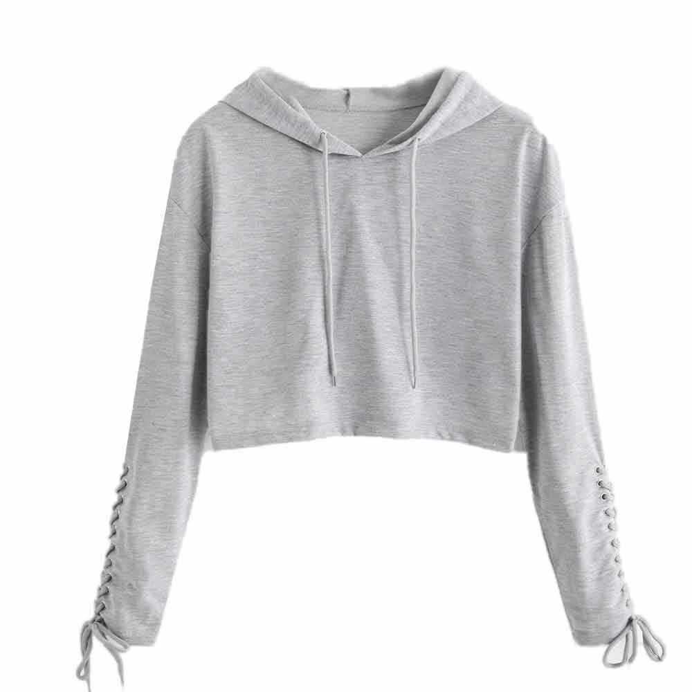 1256c19d2904a3 ... Winter New Style Fashion Women Hoodie Sweatshirt Jumper Sweater Crop Top  Coat Sports Pullover Tops Sudadera ...