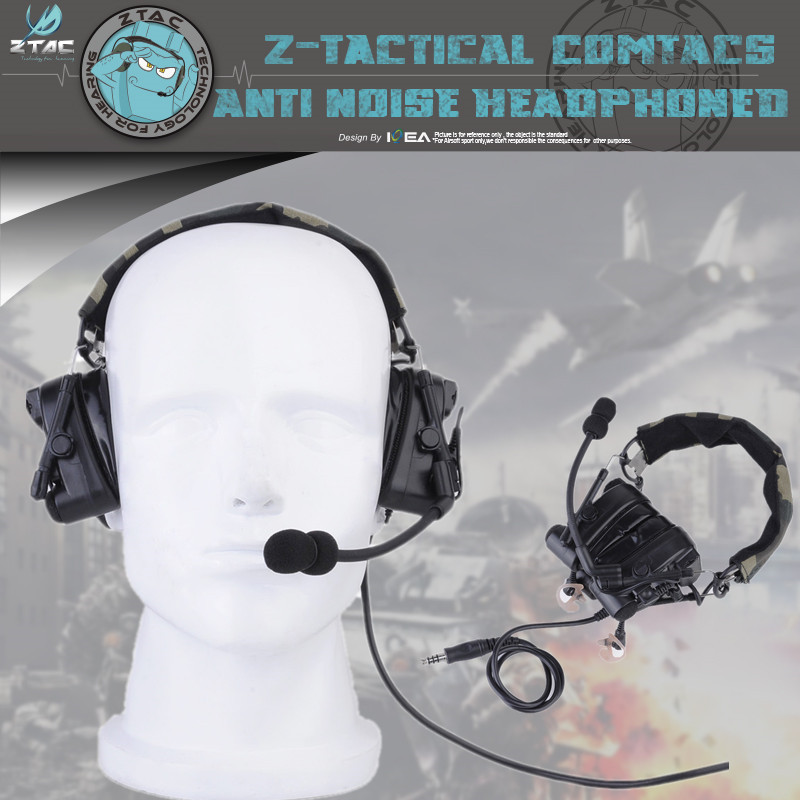 Z-TAC Z038 Tactical Combat Zcomtac Iv Headset Noise-canceling Headphones Hunting Headset With Supporting Standards