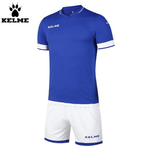 Authentic Kelme Men V-neck K15Z203 Soccer Jerseys Suit Race Suits Custom Team Jerseys Orange Black