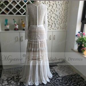 Image 5 - Mryarce שיק שמלות כלה ייחודי תחרה מקסים פולקה נקודות ארוך שרוול כלה בוהמית כלה שמלות