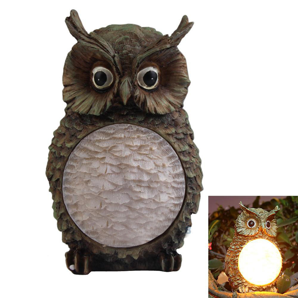 Discount outdoor fabric by the yard - Solar Garden Led Light Lamp Outdoor Powered Owl Home Yard Decor Lighting Statue Landscape Party Decor