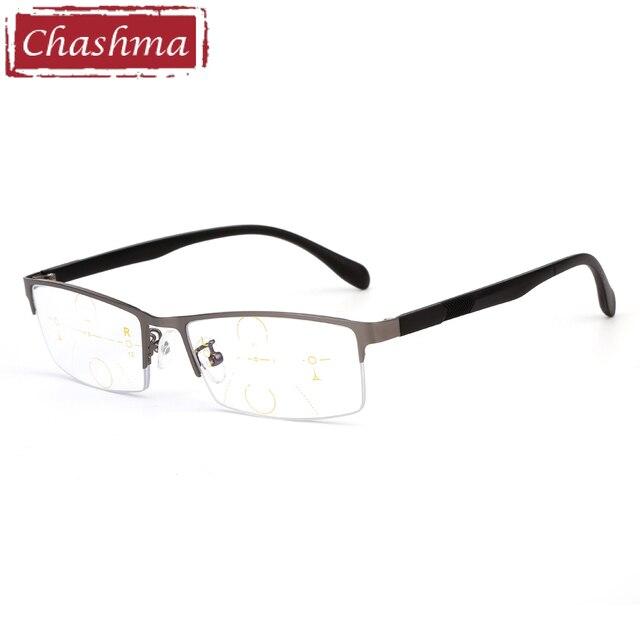 f9c814837dd606 Chashma Merk Verifocal Bril Mannen Half Frame Optische Eyewear Progressieve  Lenzen Leesbril Zien Dichtbij en Afstand
