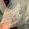 Top Quality Romantic Shiny 1 M Lace Sparkly Wedding Veils 2015 Fashion Long Dubai Bridal Veil Wedding Accessories velo novia V29