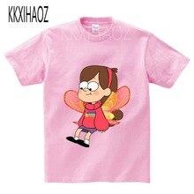 Childrens Cute shirt Gravity Falls Mystery Attack Kids T shirts Summer Casual Boys/Girls Tees Fashion Kawai baby T-shirt girl
