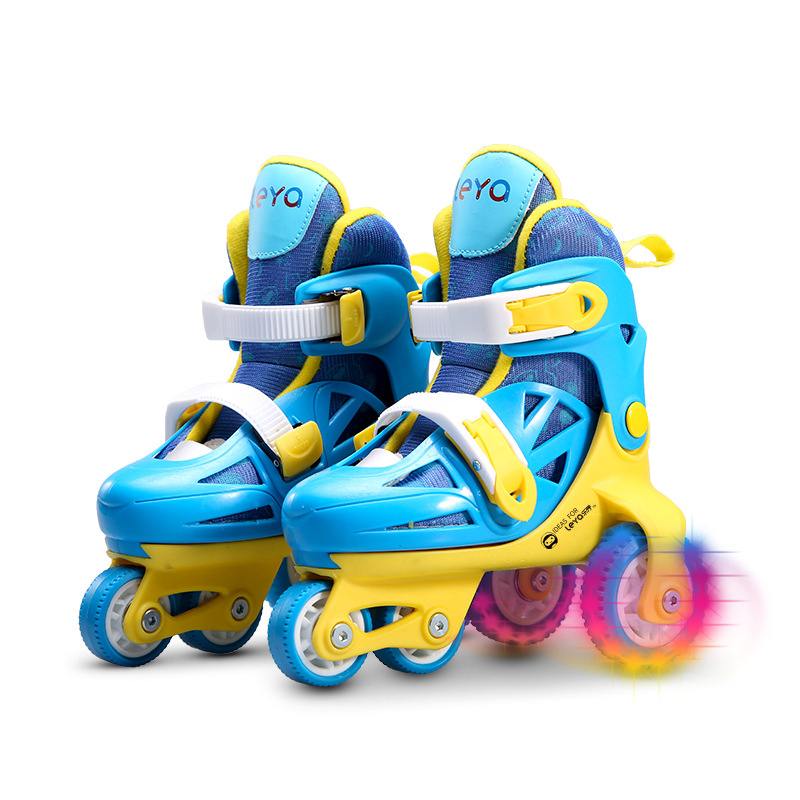 цена  1 Pair Kids Children Lovely Cute Stable Slalom Ice Skate Roller Skating Shoes Adjustable Size Washable Toddler Fall Prevention  онлайн в 2017 году