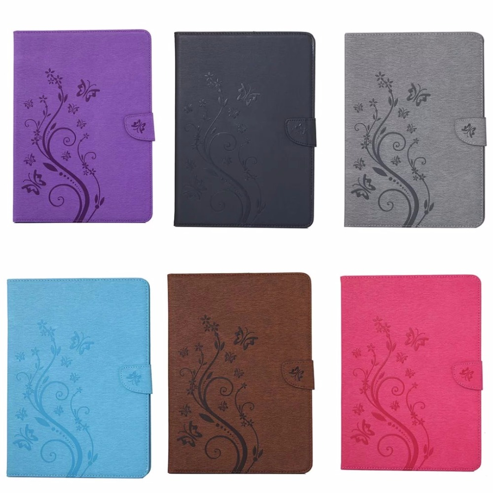 Luxury Butterfly Flower PU Leather Cover Stand Case For apple ipad 4 3 2 Case Cover Tablets Case Protective Shell Wallet Cover