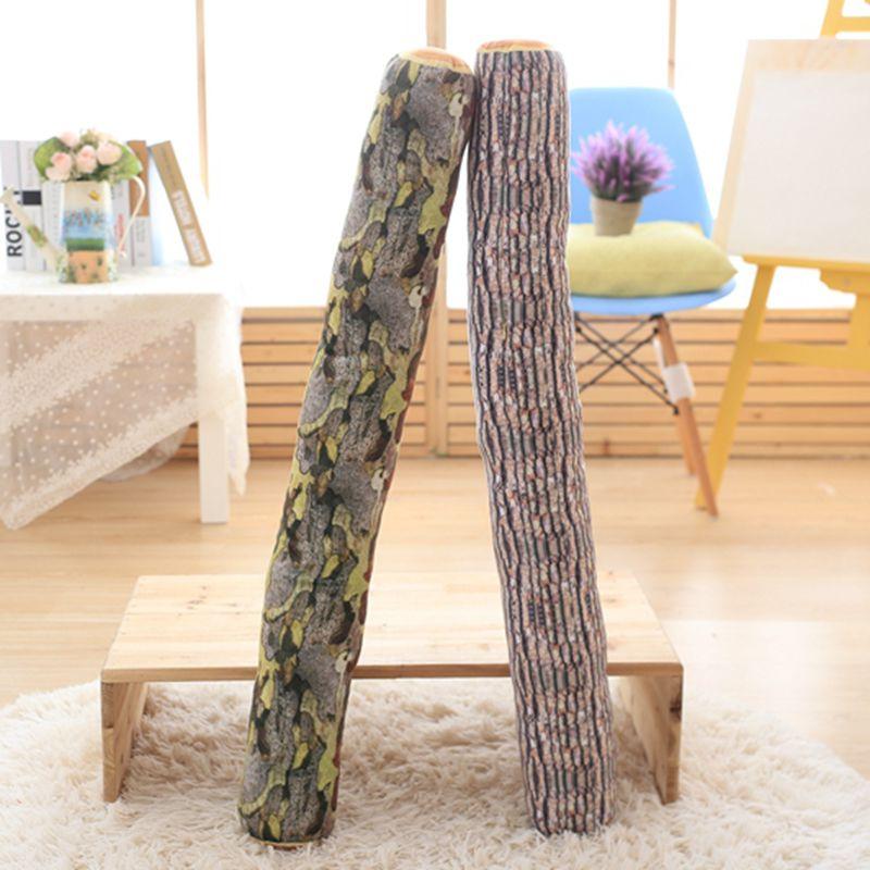 Nooer Creative Soft Tree Trunk Stuffed Plush Toy Tree Stump Doll Long Wood Log Bed Sleep