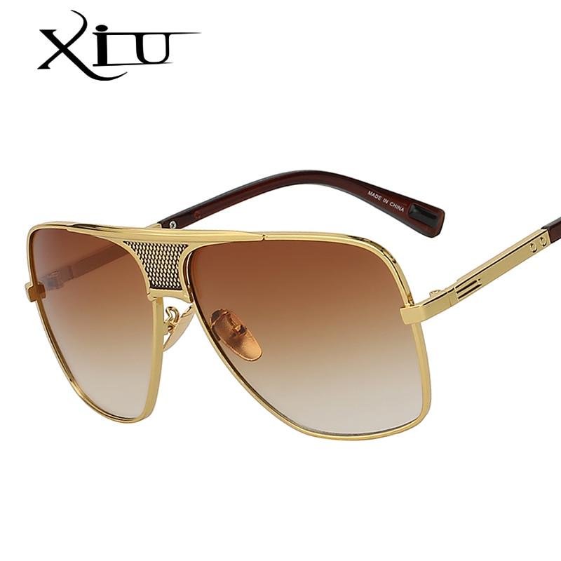 XIU Occhiali Da Sole degli uomini Più Nuovo Vintage Oversize Telaio Occhiali di Stile di Estate Del Progettista di Marca Occhiali Da Sole Oculos De Sol UV400