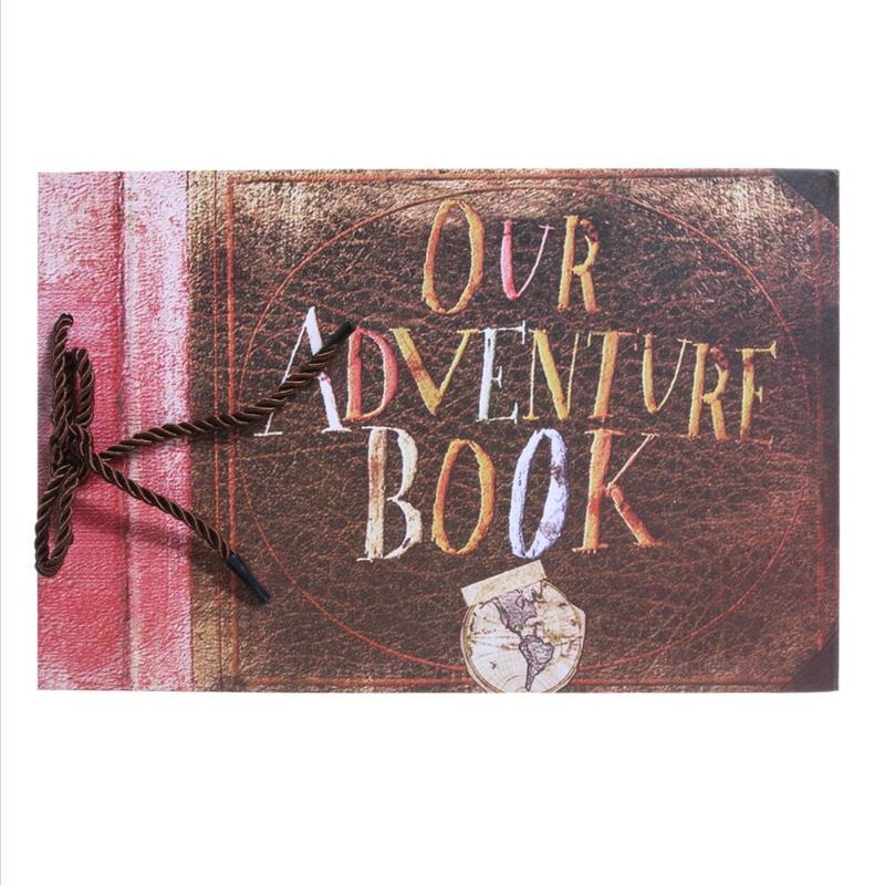 40 листов Kraft Бумага DIY любовника фотоальбомы памятной книги наше приключение ручной работы свадебное путешествие детский альбом Скрапбукин... ...