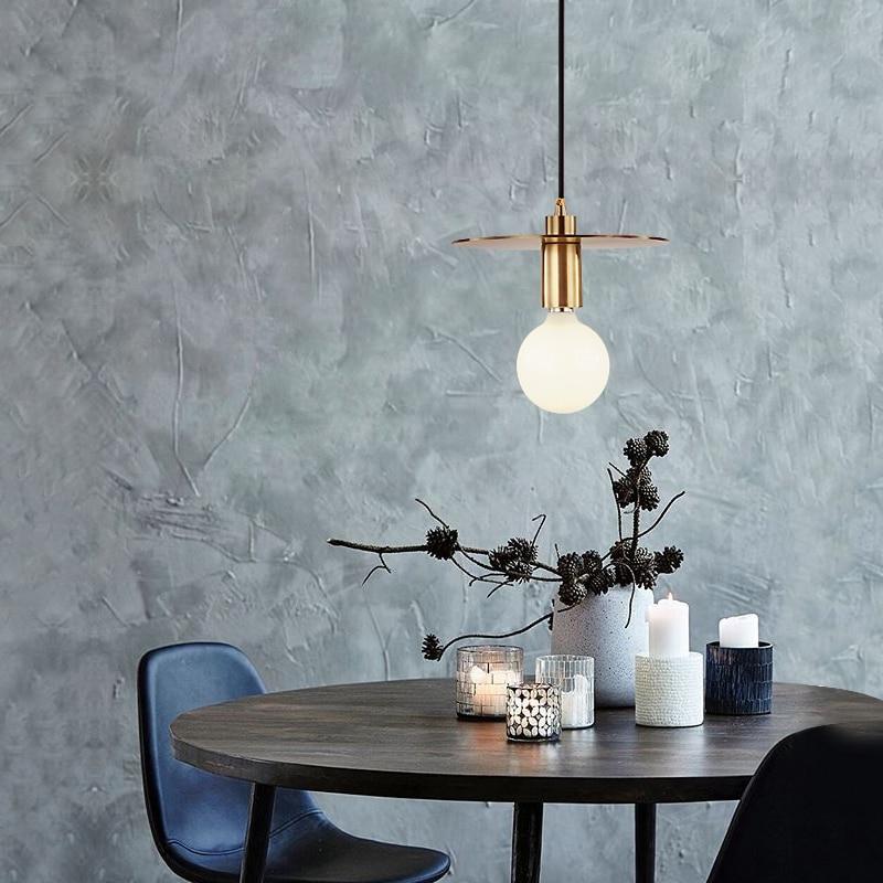 LEDream e27 Postmodern restaurant bar counter all copper single head droplight corridor pendant lamps