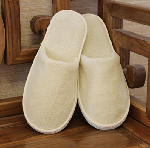 67b92d005e4b66 Nature cotton room slippers shoes Hotel Non-slip One-time flip flop Home  guest